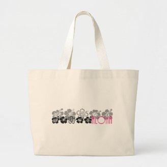 Shades of Black and Gray aloha design Tote Bag
