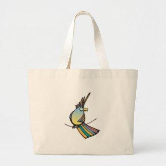 silly colorful parrot bags