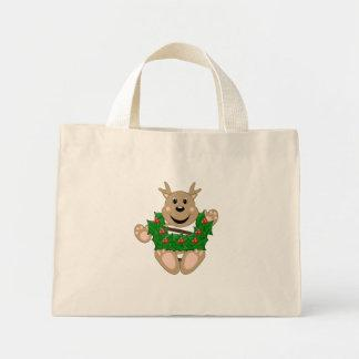 Skrunchkin Reindeer With Wreath Canvas Bags