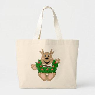 Skrunchkin Reindeer With Wreath Tote Bag