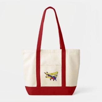 Small airplane tote bags