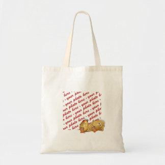 Snacking Potatoes - Father & Son Photo Frame Canvas Bag