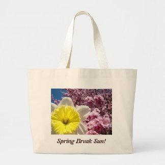 Spring Break Sun! tote bag Bright Yellow Daffodil