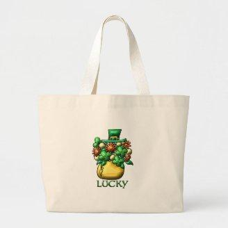 St. Patrick's Day Luck Canvas Bag