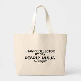 Stamp Collector Deadly Ninja by Night Canvas Bags