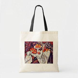 Still Life With Apples And Oranges By Paul Cézanne Canvas Bags
