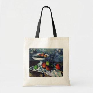 Still Life With Fruit Bowl By Paul Cézanne Canvas Bag