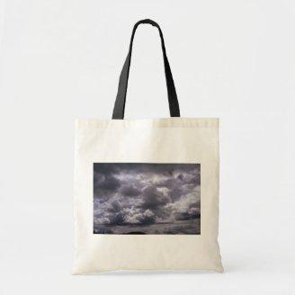 Stratocumulus (thick layer breaking up) tote bags