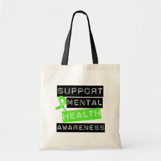 Support Mental Health Awareness Canvas Bags