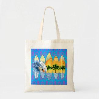 Surfer And Surfboards Canvas Bags