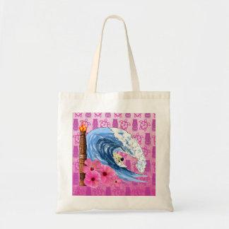 Surfer And Tiki Statue Bags