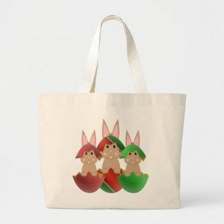 Tan Bunny In A Christmas Ornaments Tote Bag