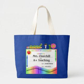 Teacher Certificate Tote - SRF Bag
