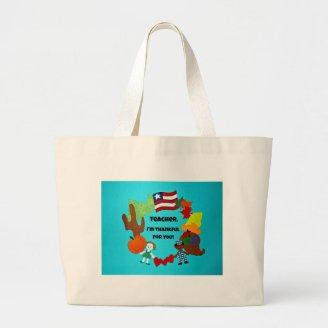 Teacher, I'm thankful for you! Canvas Bag