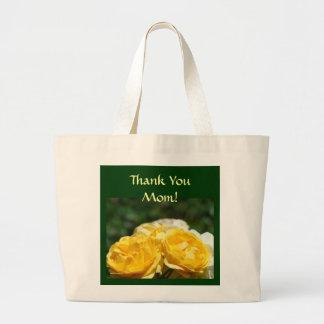 Thank You Mom! Tote bag gifts Yellow Roses Garden