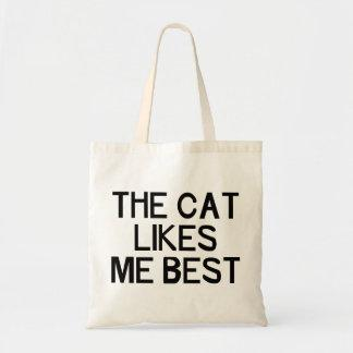 The Cat Likes Me Bags
