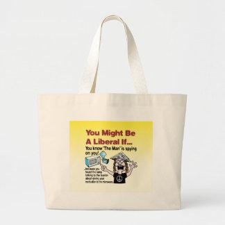 """The Man"" is spying on you! Canvas Bag"