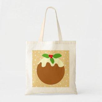 Traditional Christmas Pudding. Canvas Bags