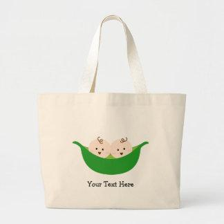 Twin Pea Pods (customizable) Tote Bags