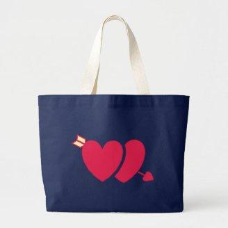 Two hearts arrow two hearts arrow tote bag
