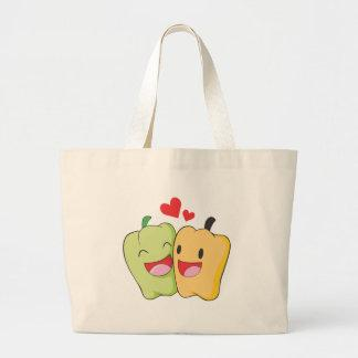 Two Sweet Bell Pepper Lovers Canvas Bags