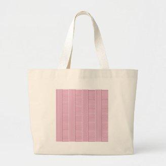 V and H Simple Stripes - Pink Lace and Puce Tote Bag