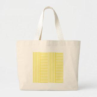 V&H Simple Broad Stripes - Light Yellow and Corn Tote Bag