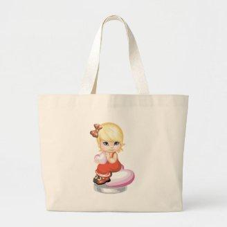 Valentine Girl Tote Bags
