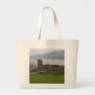 View of Urquhart Castle Tote Bags