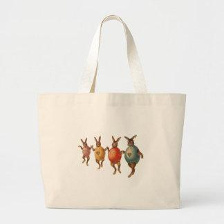 Vintage Easter Bunnies Dancing with Egg Costumes Tote Bag