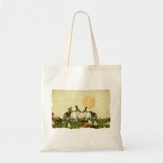 Vintage Easter Bunnies Tote Bag