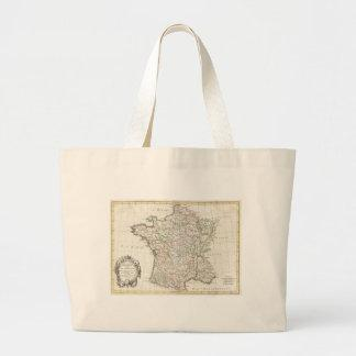 Vintage Map of France (1771) Bags