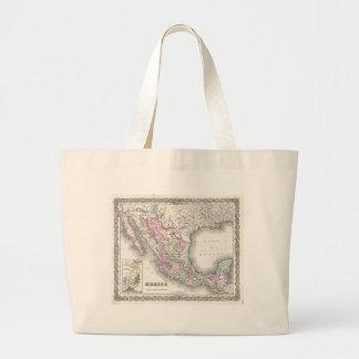 Vintage Map of Mexico (1855) Bags
