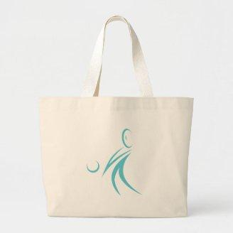 Volleyball Player Icon Canvas Bag