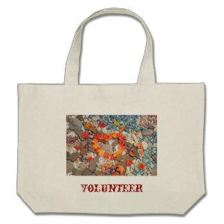 VOLUNTEER tote bags Autumn Leaves Heart
