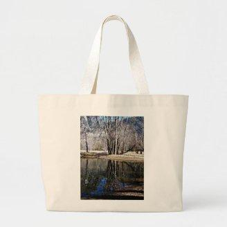 WAITING FOR SPRING WITH TREES AND A POND BAG