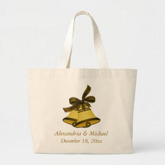 """Wedding/Christmas Bells"" -  Bold Shades of Gold Canvas Bags"
