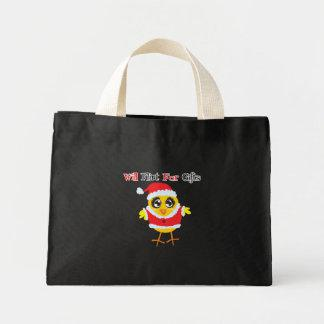 Will Flirt For Gifts - Cute Santa Chick Tote Bag