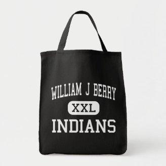 William J Berry - Indians - Middle - Heidelberg Tote Bags