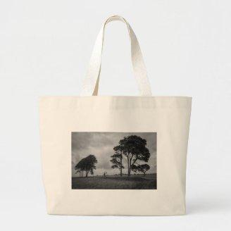 Windswept Trees Tote Bags