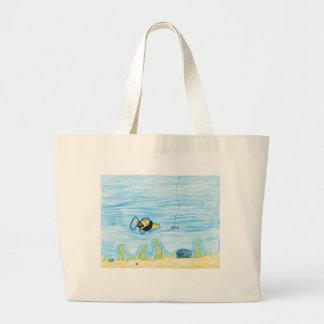 Winning artwork by R. Lacher, Grade 4 Tote Bags