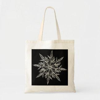 Winter Ice Crystal Tote Bag