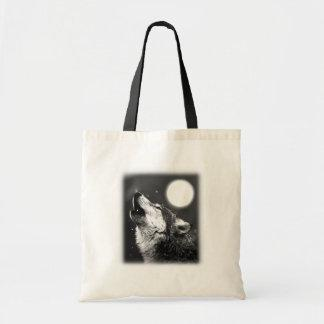 Wolf Howling at Moon Bags