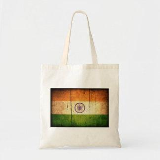 Wooden Indian Flag Canvas Bag