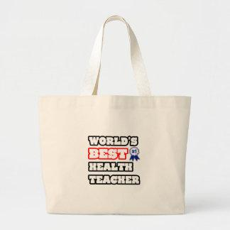 World's Best Health Teacher Tote Bags
