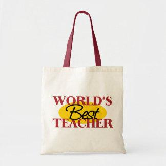 World's Best Teacher Gift Tote Bags