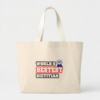 World's Bestest Dietitian Canvas Bag