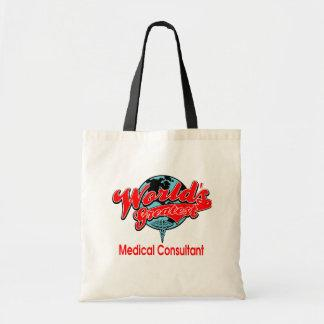 World's Greatest Medical Consultant Canvas Bags