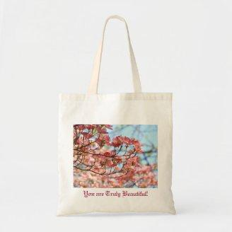 You are Truly Beautiful! Tote bag gifts Dogwoods