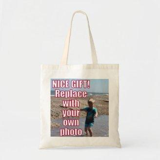 Your Own Photo Upload Best Personal Picture Gift ! Tote Bags